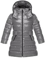 Moncler Moka Down Puffer Coat, Platinum, Size 4-6