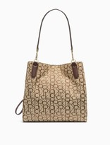 Elaine Monogram Logo 3-Compartment Medium Tote Bag