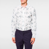 Paul Smith Men's Tailored-Fit White 'Bamboo' Print Shirt