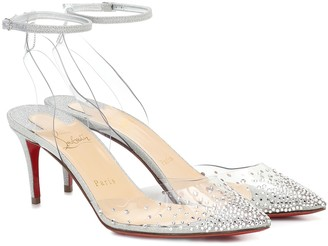 Christian Louboutin Exclusive to Mytheresa a Spikastrass 70 PVC pumps