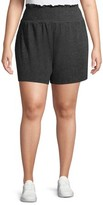 Como Blu Women's Plus Size Smocked Waist Shorts