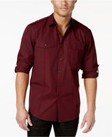INC International Concepts Men's Barnes Checked Long-Sleeve Shirt, Only at Macy's