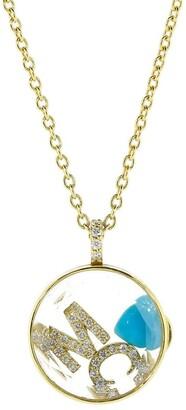 Moritz Glik M C Initial Diamond Shaker Necklace