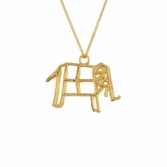 Origami Jewellery Frame Elephant Necklace Gold
