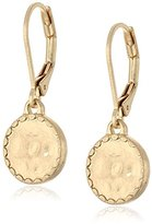 "lonna & lilly Classics"" Gold-Tone/Textured Drop Earrings"