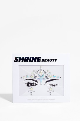 Nasty Gal Womens SHRINE Put Stars in Their Eyes Face Jewels - Silver