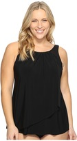 Miraclesuit Plus Size Solid Mariella Tankini Top Women's Swimwear