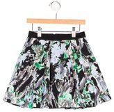 Milly Minis Girls' Abstract Print Pleated Skirt