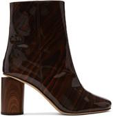 Acne Studios Brown Patent Allis Boots