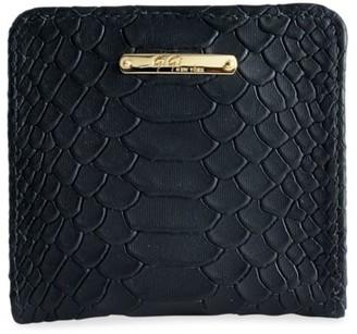 GiGi New York Mini Foldover Python-Embossed Leather Wallet