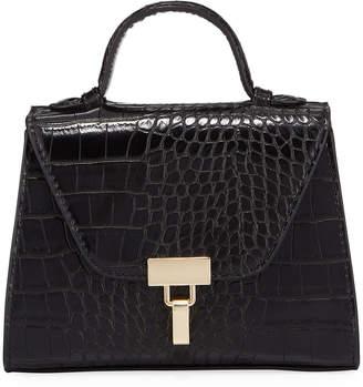 Jagger Kc Kacey Mock-Croc Crossbody Satchel Bag