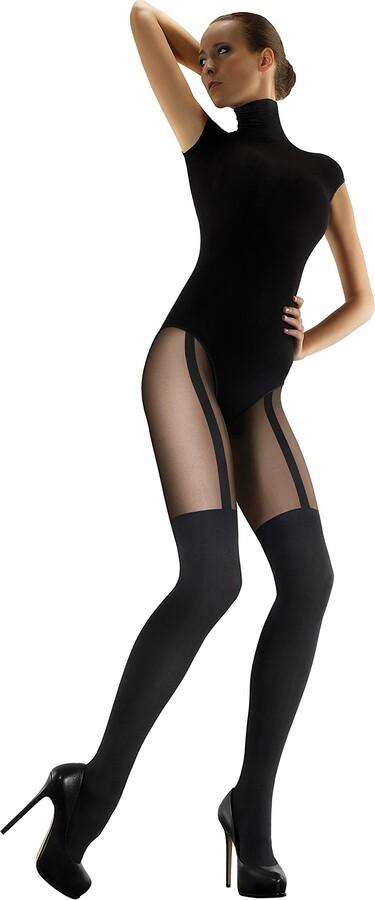 Marilyn Womens Fashion Hosiery Ladies Luxury Fingerless Tights Stocking Look Hygienic Gusset 60 Denier