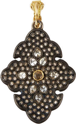 Armenta Old World Sapphire & Garnet Scroll Pendant w/ Diamonds