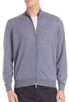 Brunello Cucinelli Wool & Silk Full-Zip Sweater