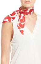 Kate Spade Women's Heart To Heart Skinny Silk Scarf