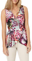 Damsel in a Dress Rainbow Leopard Drape Top, Multi