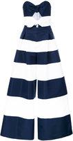 Carolina Herrera strapless striped jumpsuit - women - Silk - 6