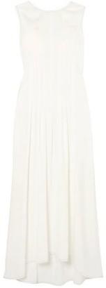 MM6 MAISON MARGIELA Pleated Washed-twill Maxi Dress