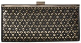 Jessica McClintock Laura Perforated Framed Clutch