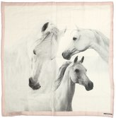 Finger In The Nose Horse Print Cotton Muslin Scarf