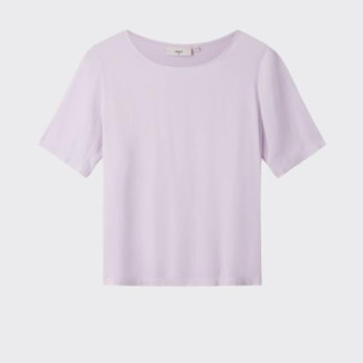 Minimum Orchid Viscose Short Sleeve Elvire Pastel Top - Lavendel / 36