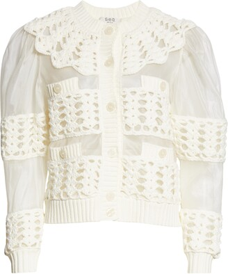 Sea Cleo Crochet Accent Cardigan