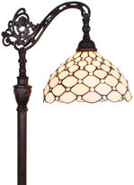 AMORA Amora Lighting AM028FL12 Tiffany Style 62-inch Jeweled Reading Floor Lamp