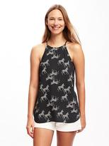 Old Navy Patterned High-Neck Cami for Women