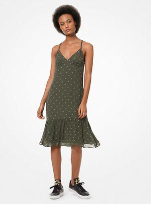 MICHAEL Michael Kors MK Grommeted Georgette Slip Dress - Ivy - Michael Kors