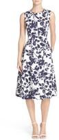 Eliza J Women's Floral Print Faille Midi Dress