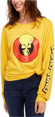 Modern Lux Juniors' Cotton Tweety Bird Graphic T-Shirt