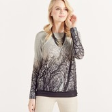 Apricot Dark Forest Ombre Print Jumper