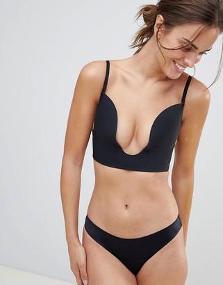 Fashion Forms seamless u plunge bra-Black