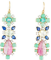 Irene Neuwirth 18K Diamond, Sapphire & Emerald Drop Earrings