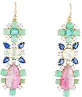 Irene Neuwirth 18K Diamond, Sapphire & Emerald Drop Earrings