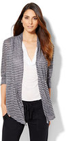 New York & Co. Lounge - Open-Front Cardigan - Stripe