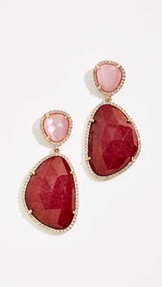 Stella + Ruby Dyed Jade Earrings