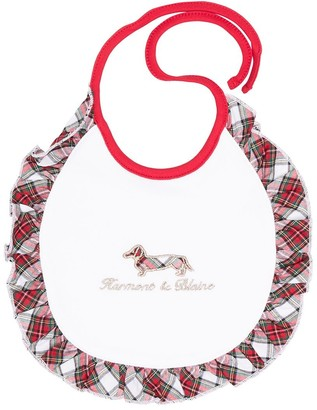 Harmont & Blaine Junior Checked Ruffled Trim Bib