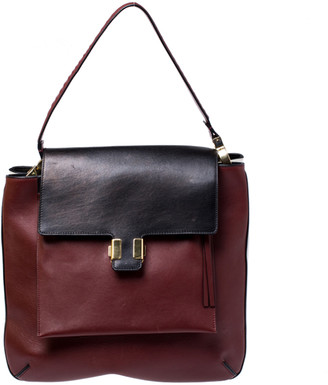 Celine Tricolor Leather Flap Shoulder Bag