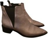 Acne Studios Jensen / Jenny Silver Leather Boots