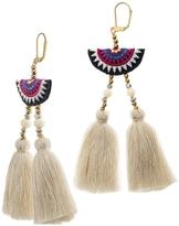 Shashi Double Tassel Drop Earring