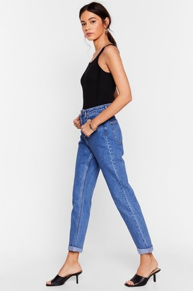Nasty Gal Womens Are You Up to It High-Waisted Mom Jeans - Mid Blue
