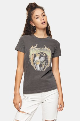 Topshop Womens Tall Insomnia T-Shirt In Washed Black - Washed Black