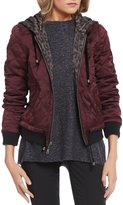 Jolt Reversible Hooded Quilted Bomber Jacket