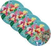 Maxwell & Williams Exotica Ceramic Orchid Coaster (Set of 4)