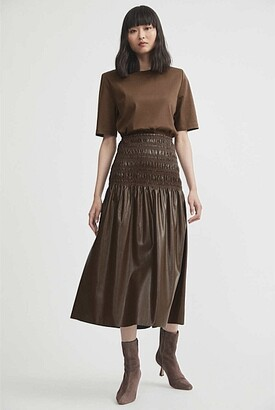 Witchery Faux Leather Skirt