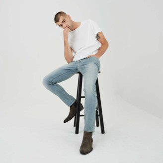 DSTLD Mens Skinny Jeans in Light Worn