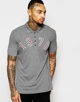 Diesel Polo T-Daniel-AA Pique with 1978 Applique in Gray