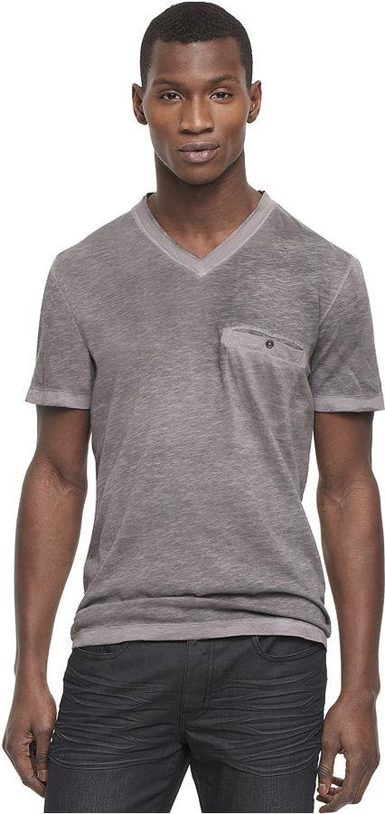 Kenneth Cole Reaction Shirt, Short Sleeve V-Neck Spray T-Shirt