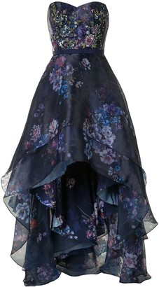 Marchesa Sequin-Embellished Floral Gown